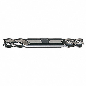"Square End Mill, 5/16"" Milling Diameter, Number of Flutes: 4, 3/4"" Length of Cut, Bright (Uncoated)"