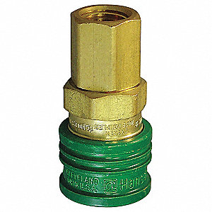 Coupler Body,(F)NPT,1/4,Brass