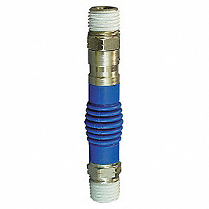 "1/4"" Steel/Polyurethane Flex Air Fitting with (M)NPT x (M)NPT Hose Connection"