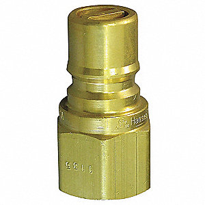 Coupler Plug,(M)NPT,3/4,Brass