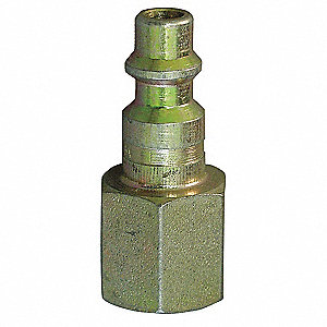 Coupler Plug,(F)NPT,1/4,Brass