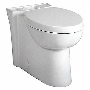 Toilet Bowl, Floor Mounting Style, Elongated, 1.28 Gallons per Flush