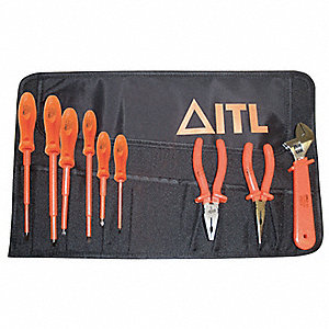 Insulated Tool Set,9 pc.