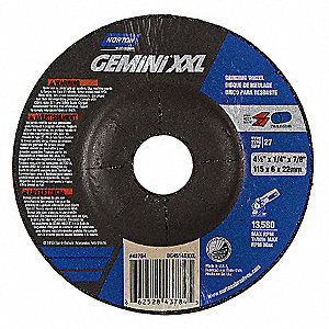 Depressed Center Wheel,4-1/2In,13,580RPM