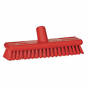 "Push Broom,Head,11"",Red"