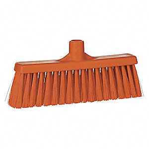"Angle Broom,Head,11-1/2"",Orange"