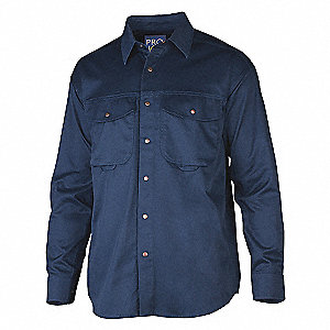65/35 6.5OZ WORK SHIRT MENS NAVY M