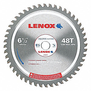 BLADE CIRC SAW TH STEEL 6-1/2IN 48T