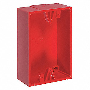 Back Box,Polycarbonate,Red