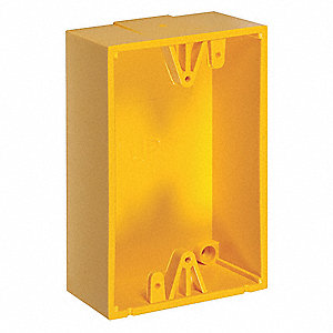 Back Box,Polycarbonate,Yellow