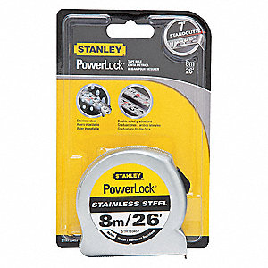 26 ft. Stainless Steel SAE/Metric Tape Measure, Natural