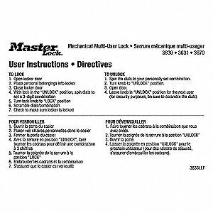 MULTI-USER LOCK INSTRUCTION MAGNETS