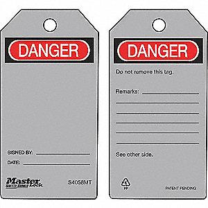 TAG DANGER-BLANK METAL DETECT