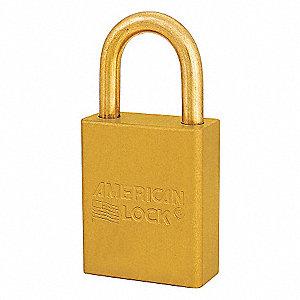 SAFETY 1-1/2IN ALUM LOPADLOCK YLW