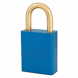 SAFETY 1-1/2IN ALUM LOPADLOCK BLUE