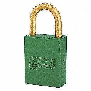 SAFETY 1-1/2IN ALUM LOPADLOCK GREEN