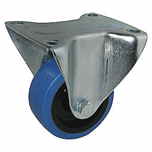3IN RIGID BLUE ELASTIC PLATE CASTER