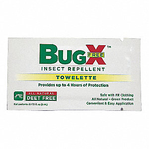 Insect Replnt,No DEET,Lotion Wipe,PK300