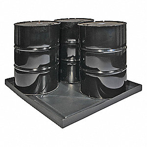 Spill Tray,Black,36 gal.,HDPE