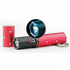 "Aluminum/Plastic Stun Gun, 3.0 Million Stun Voltage, 4.5"" Length, LED-Cree Lamp Type"