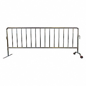 Crowd Control Barrier,40-1/2inHx102inL