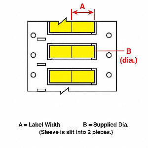 Wire Marking Sleeves,1 In. W,0.645 In. L