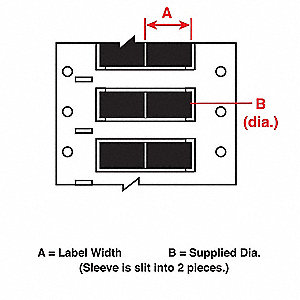 Wire Marking Sleeves,1 In. W,0.335 In. L