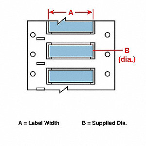 Wire Marking Sleeves,2 In. W,0.335 In. L