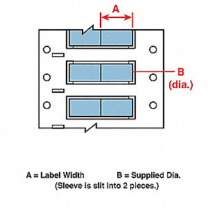 Wire Marking Sleeves,1 In. W,1.250 In. L