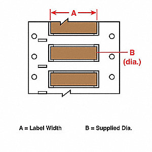 Wire Marking Sleeves,2 In. W,1.250 In. L