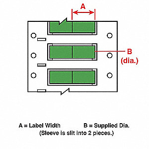 Wire Marking Sleeves,1 In. W,2.433 In. L