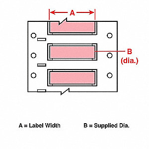 Wire Marking Sleeves,2 In. W,0.439 In. L