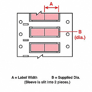 Wire Marking Sleeves,1 In. W,0.439 In. L