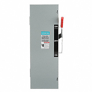 Safety Switch, 1 NEMA Enclosure Type, 30 Amps AC, 7-1/2 HP @ 600VAC HP