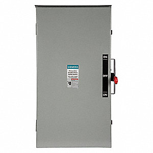 Safety Switch, 3R NEMA Enclosure Type, 200 Amps AC, 60 HP @ 240VAC HP