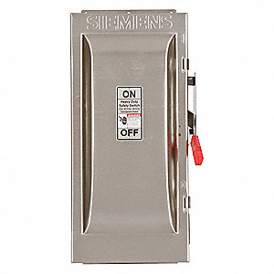 Safety Switch, 4 NEMA Enclosure Type, 100 Amps AC, 100 HP @ 600VAC HP