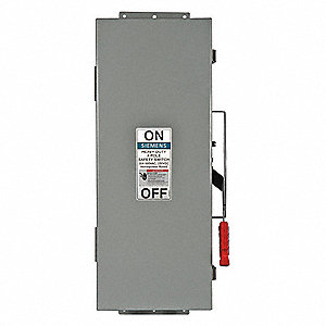 Safety Switch, 12 NEMA Enclosure Type, 60 Amps AC, 60 HP @ 600VAC HP