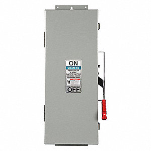Safety Switch, 12 NEMA Enclosure Type, 30 Amps AC, 30 HP @ 600VAC HP