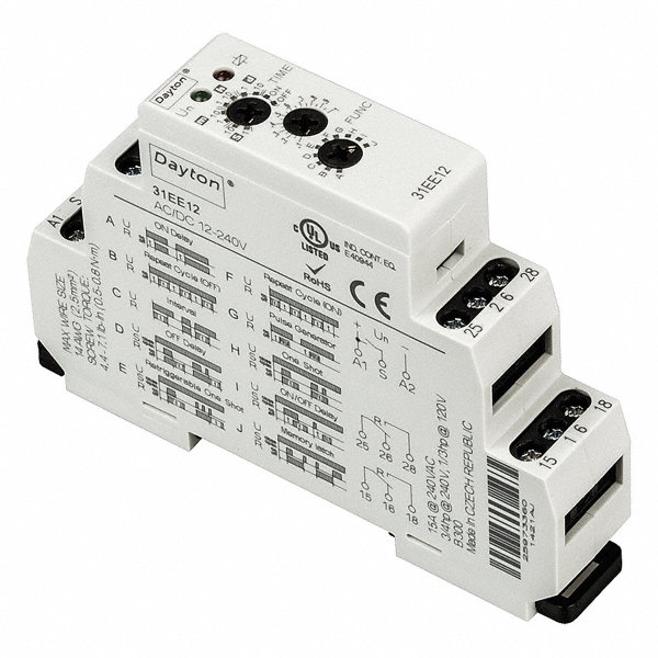 dayton 10 function time delay relay 12 to 240vac dc 15a. Black Bedroom Furniture Sets. Home Design Ideas