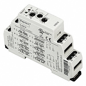 Time Delay Rlay,12 to 240VAC/DC,15A,DPDT