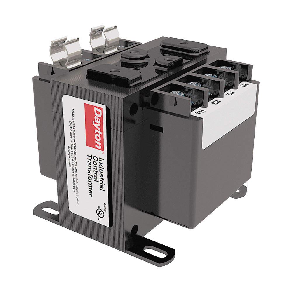 DAYTON Control Transformer, Input Voltage: 240VAC, 480VAC, Output ...