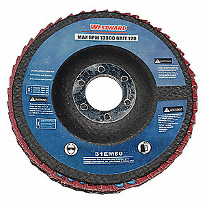 Arbor Mount Flap Disc,4-1/2in Dia.,120 G