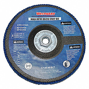 Arbor Mount Flap Disc,7 in. Dia.,60 Grit