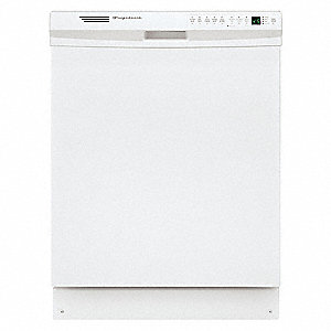 "Undercounter Dishwasher, White, Width 24"", Depth 23"", Voltage 120, ADA Compliant Yes"