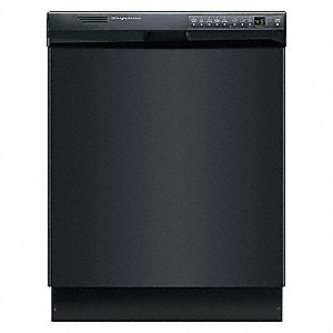 "Undercounter Dishwasher, Black, Width 24"", Depth 23"", Voltage 120, ADA Compliant Yes"