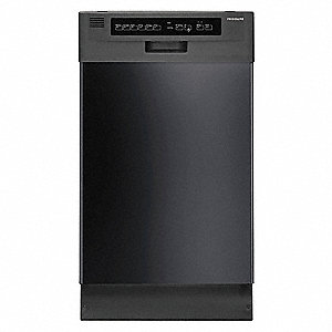 "Undercounter Dishwasher, Black, Width 17-1/2"", Depth 23"", Voltage 120, ADA Compliant Yes"