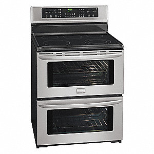 "Electric Oven Range, Stainless Steel, 49""H x 29-7/8""W x 25-1/4"" Depth"