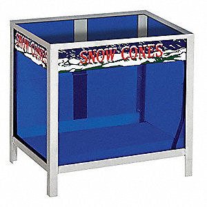 "Ice Shaver Display Case, HDPE, Width 19"", Height 20"", Depth 14"""