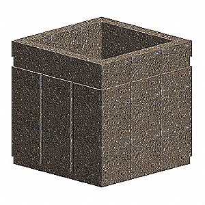 Security Planter,24 In. H