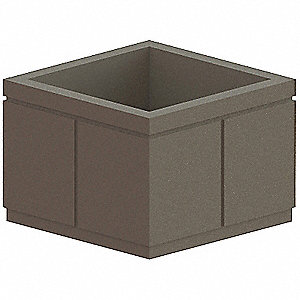 Security Planter,Square,30 In. H